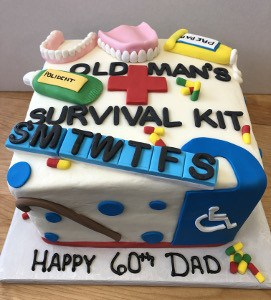 60th Survival Birthday Cake | Holland Cakery 'n' Sweets
