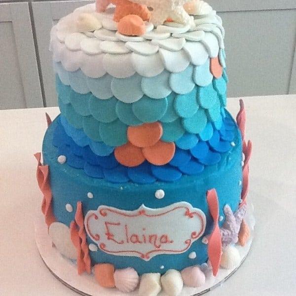 Custom Seashell Cake   Holland Cakery 'n' Sweets