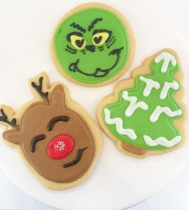 Holiday Sugar Cookies | Rudolph & Grinch | Holland Cakery 'n' Sweets