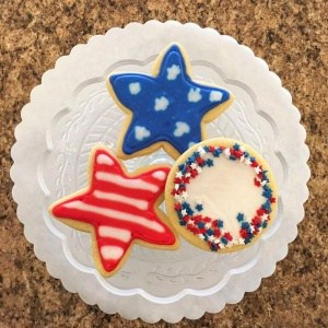 July 4th Stars & Stripes Cookie Idea