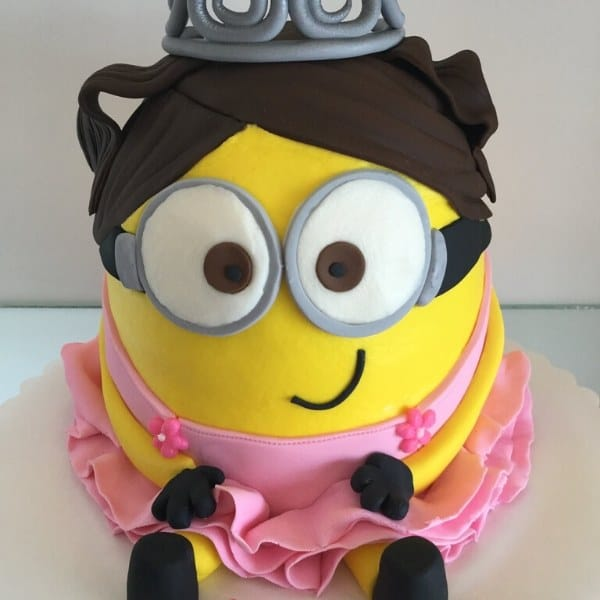 Girl Minion Birthday Cake Idea