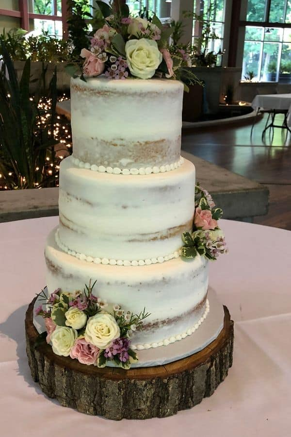 Naked Wedding Cake | Holland Cakery 'n' Sweets