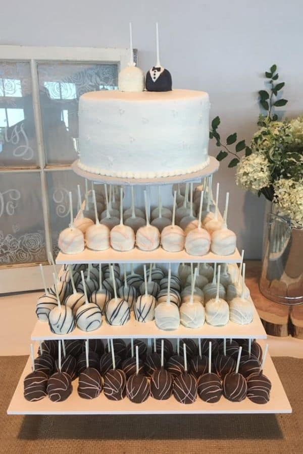 Wedding Cakes Designs Elegant Or Simple Naked Square Tiered